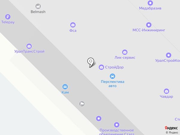 Комстар на карте Екатеринбурга