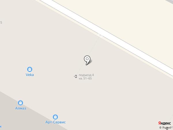 Лиана на карте Верхней Пышмы