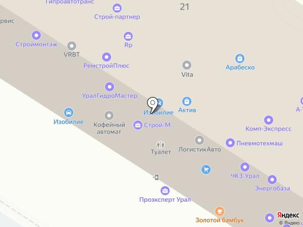 Драйв на карте Екатеринбурга