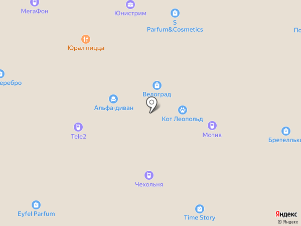 Ларко на карте Екатеринбурга