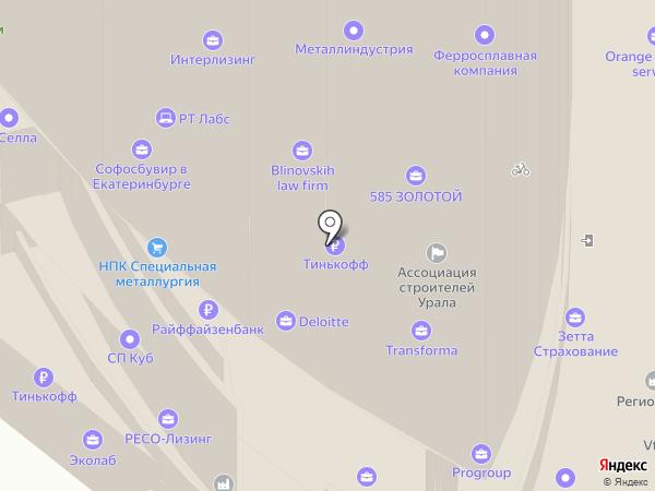 УралНеруд на карте Екатеринбурга