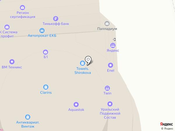 Студия ногтевой эстетики Ксении Беловой на карте Екатеринбурга