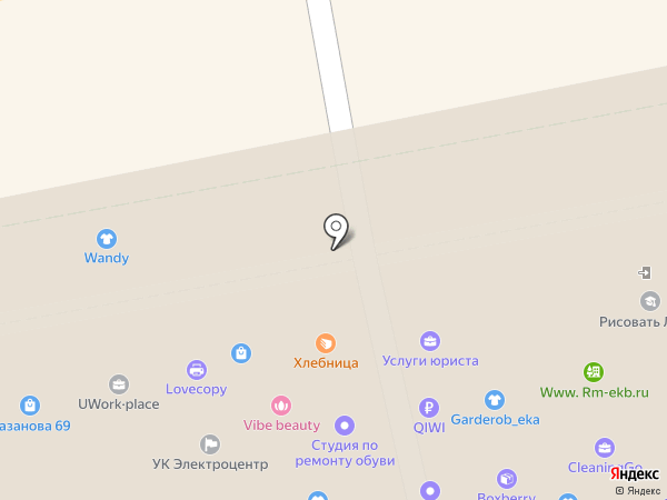 Пекаринка на карте Екатеринбурга
