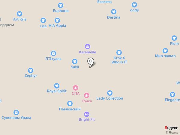 Бижутэя на карте Екатеринбурга