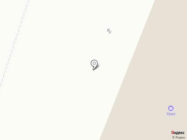 Спецлампа на карте Верхней Пышмы