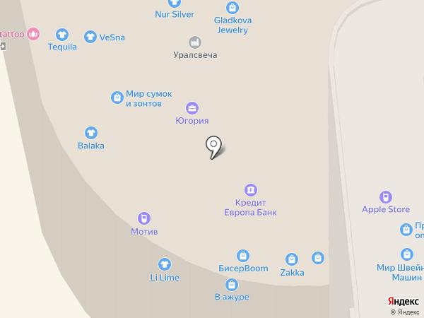 Линок на карте Екатеринбурга