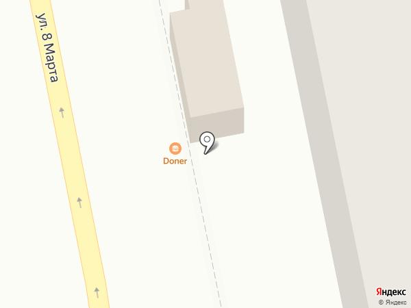 Donas doner kebab на карте Екатеринбурга