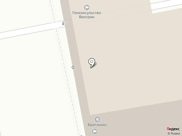 Британское генеральное консульство в г. Екатеринбурге на карте Екатеринбурга