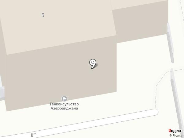 Генеральное консульство Азербайджанской Республики в г. Екатеринбурге на карте Екатеринбурга