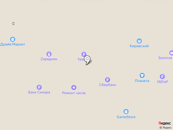 Автодрайвер на карте Екатеринбурга