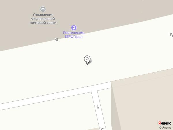 Управление Федеральной почтовой связи Свердловской области на карте Екатеринбурга