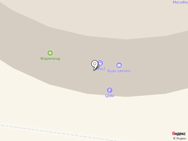 Конфаэль на карте Екатеринбурга