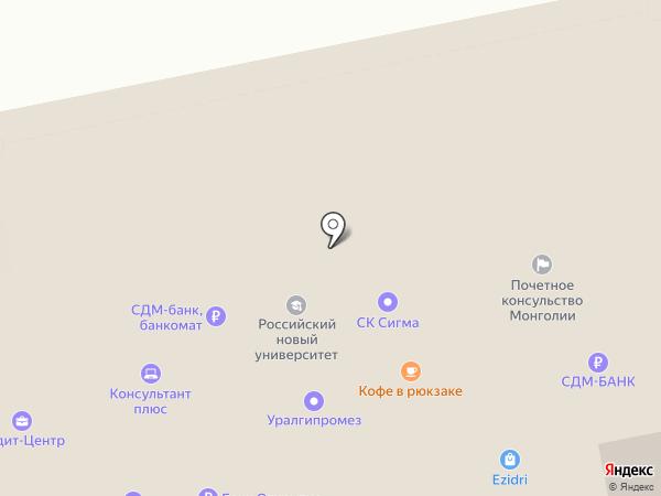 Почетное консульство Монголии в г. Екатеринбурге на карте Екатеринбурга