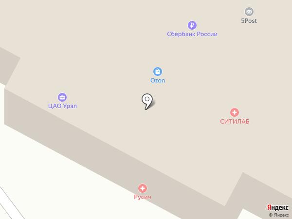 ЦАО Урал на карте Екатеринбурга