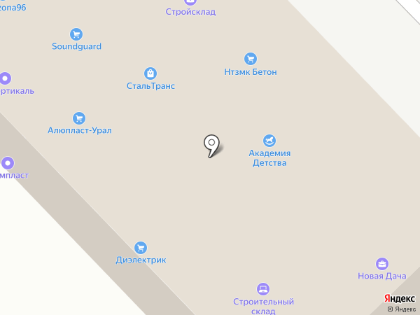 Новая Дача на карте Екатеринбурга