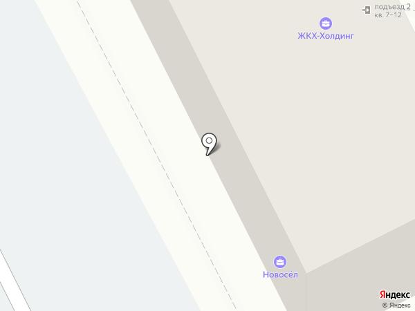 Новосёл на карте Берёзовского