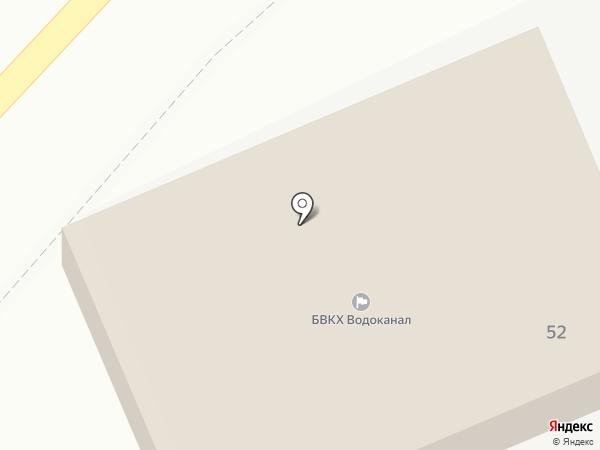 Водоканал на карте Берёзовского