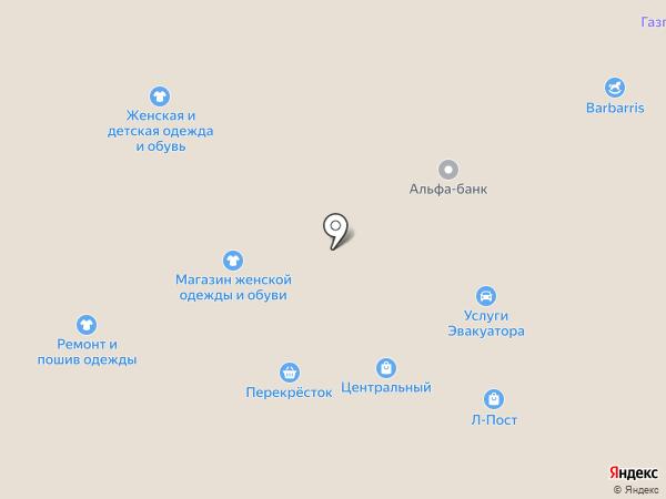 Центральный на карте Берёзовского