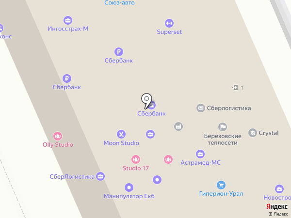 Союз-авто на карте Берёзовского