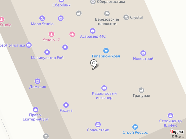 УралСтрой на карте Берёзовского
