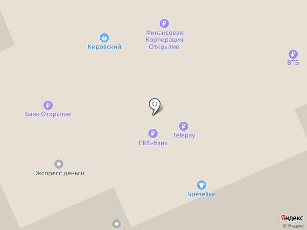 Магазин трикотажных изделий на карте Берёзовского