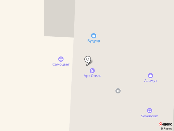 Азимут на карте Арамиля