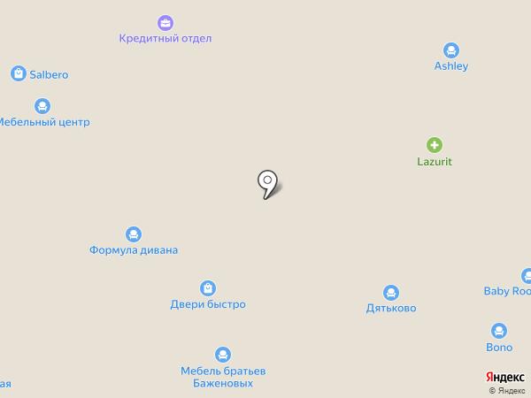 Царь-Диван на карте Челябинска