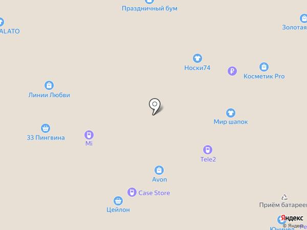 Подарюха на карте Челябинска