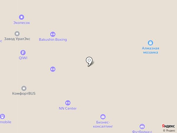 Бирмус на карте Челябинска