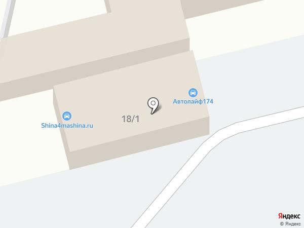 Автомойка на кольце на карте Челябинска