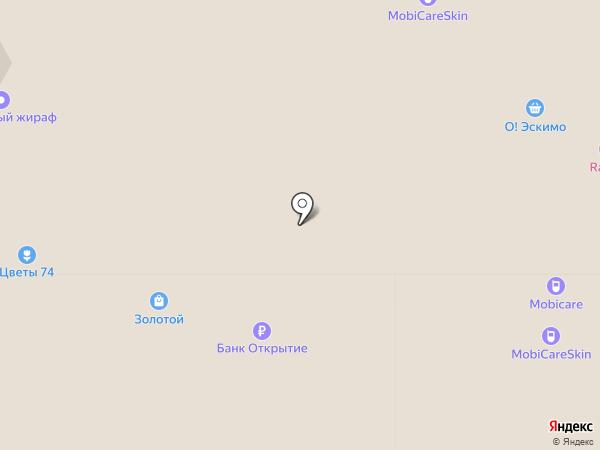 Банкомат, Банк Финансовая Корпорация Открытие, ПАО на карте Челябинска