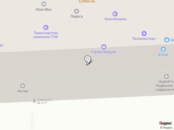 Кели на карте Челябинска