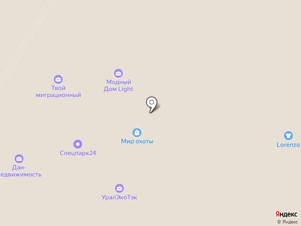 Ванна174 на карте Челябинска