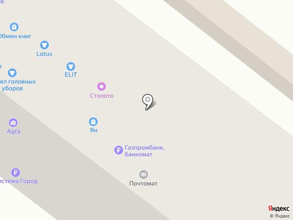 Ян на карте Челябинска
