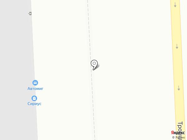 Сириус на карте Челябинска