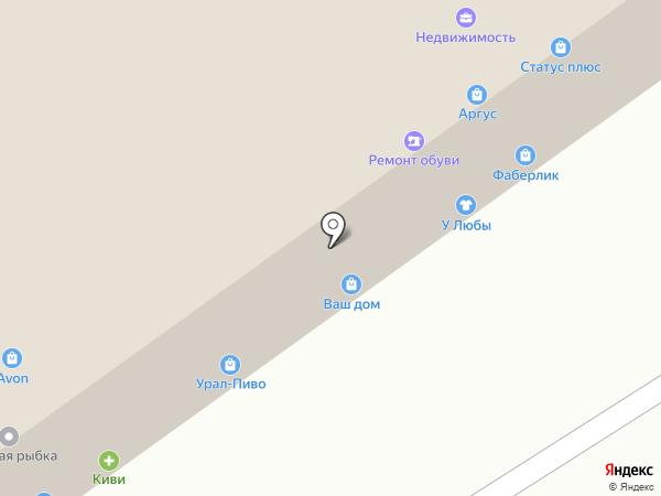 Киви на карте Челябинска