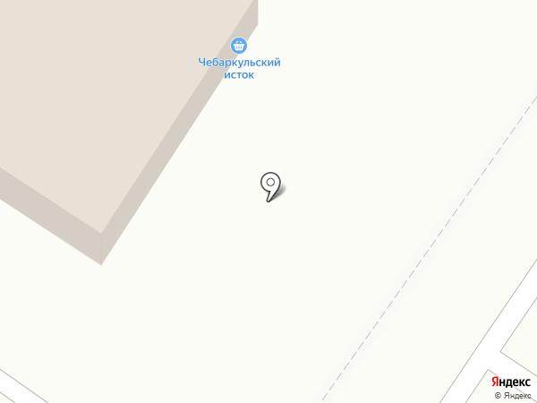 Чебаркульский исток на карте Челябинска