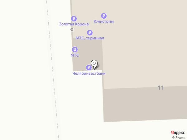 Банкомат, Челябинвестбанк на карте Челябинска