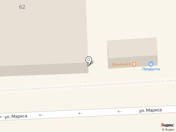 Продуктовый киоск на карте Челябинска
