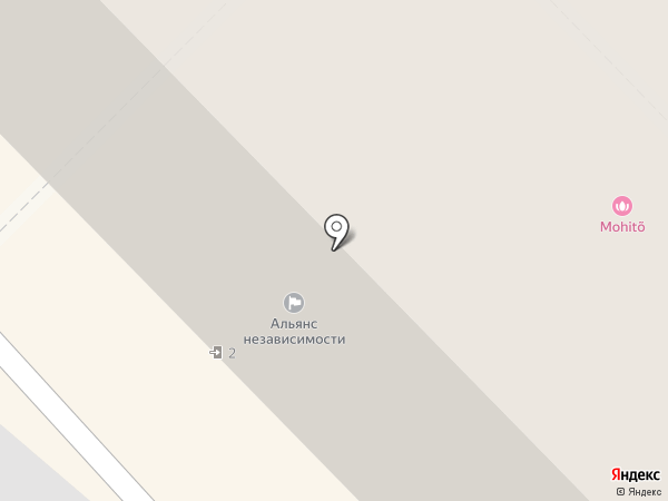 Дар Арарата на карте Челябинска
