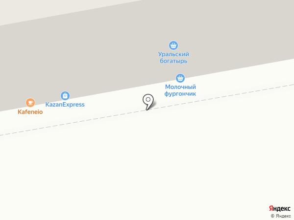 Молочный фургончик на карте Челябинска