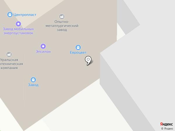 УралСтройКом на карте Челябинска