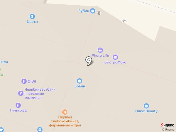 Банкомат, АКБ Форштадт на карте Челябинска