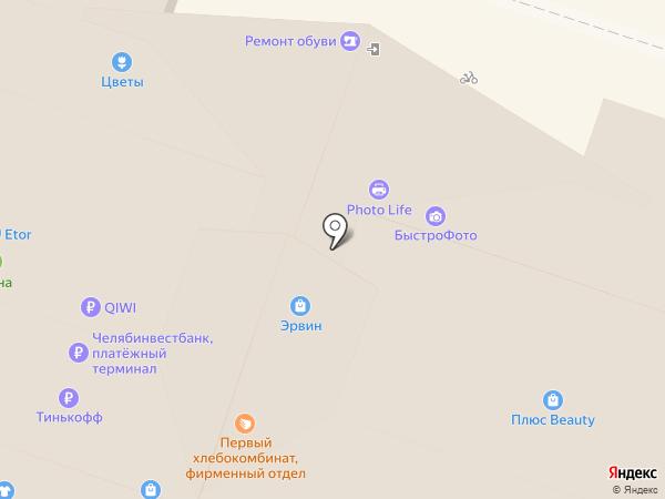 Салон головных уборов на карте Челябинска