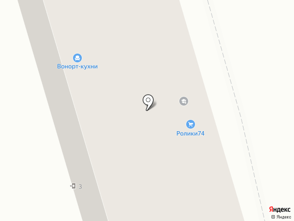 Юркон на карте Челябинска