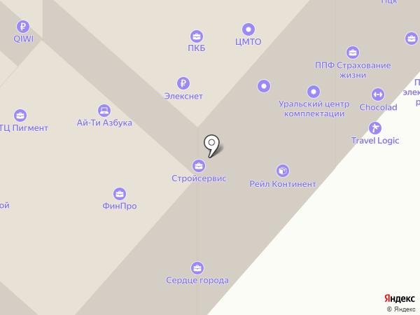 Уралкомплект на карте Челябинска