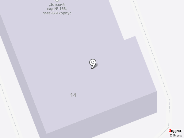 Детский сад №166, Елочка на карте Челябинска