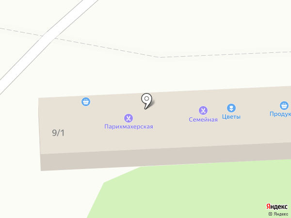 Магазин продуктов на карте Челябинска