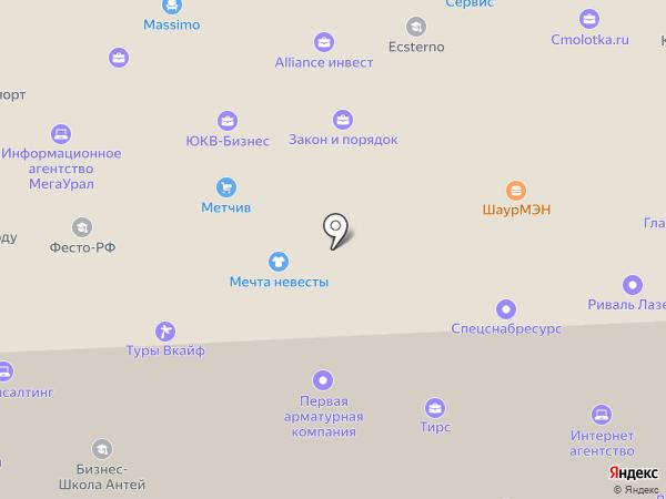КБ Юниаструм Банк на карте Челябинска