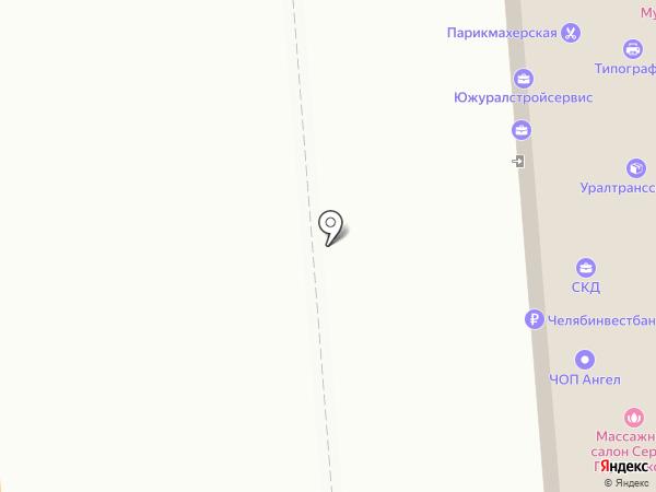 Блик на карте Челябинска